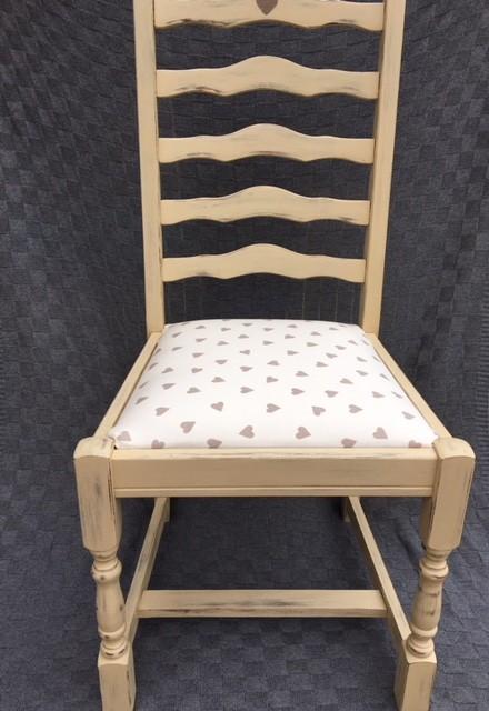 Upholstered Heart Chair