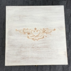 Shabby Chic Keepsake Box with Tattoo Style Stencilling