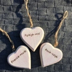 Personalised Shabby Chic Heart