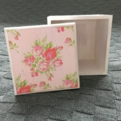 Rose Decoupage Cube Box