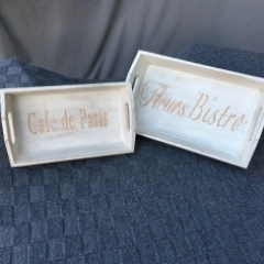 French Style Shabby Chic Decorative Trays