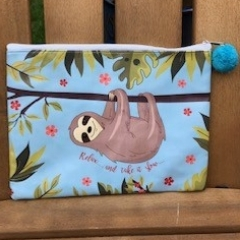 sloth wash bag