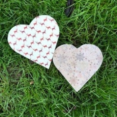 Christmas Heart Shaped Trinket Boxes