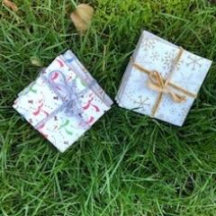 Christmas ceramic coasters