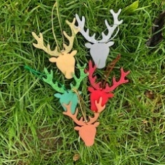 Stags Head Christmas Tree Decorations