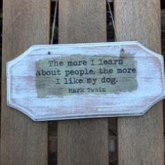 Wooden Rustic Dog Plaque