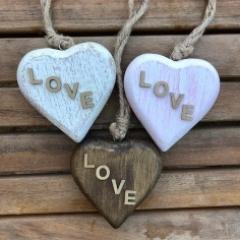 8cm Wooden Valentine Heart