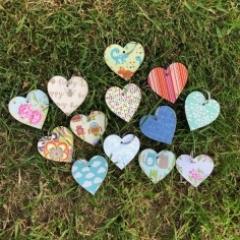 Heart shaped key rings