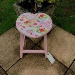 Pink Rose Stool